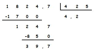Resultado de imagen de divisiones con decimales