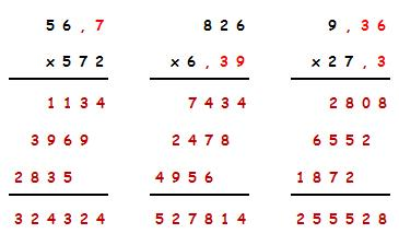 multiplicaiones