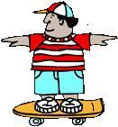 niño en patineta