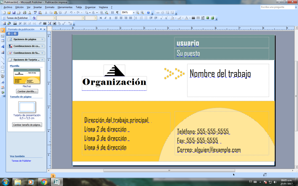 ⏩Primeros pasos - Tarjeta de Presentación en Microsoft Publisher ...
