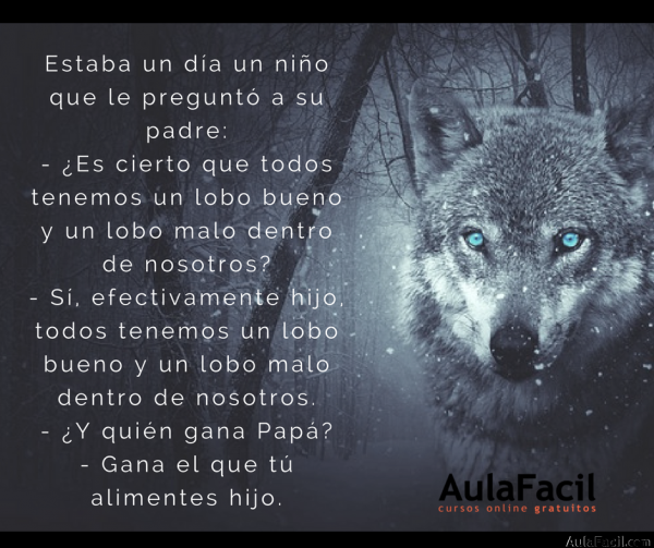 PensamientoPositivo Lobo AulaFacil