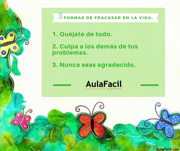PensamientoPositivo FormasdeFracasar AulaFacil