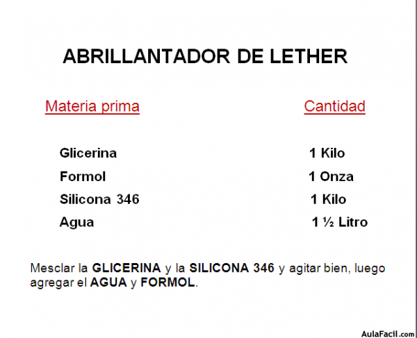 Abrillantador de lether