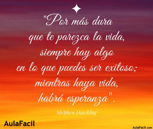 PensamientoPositivo StephenHawking AulaFacil