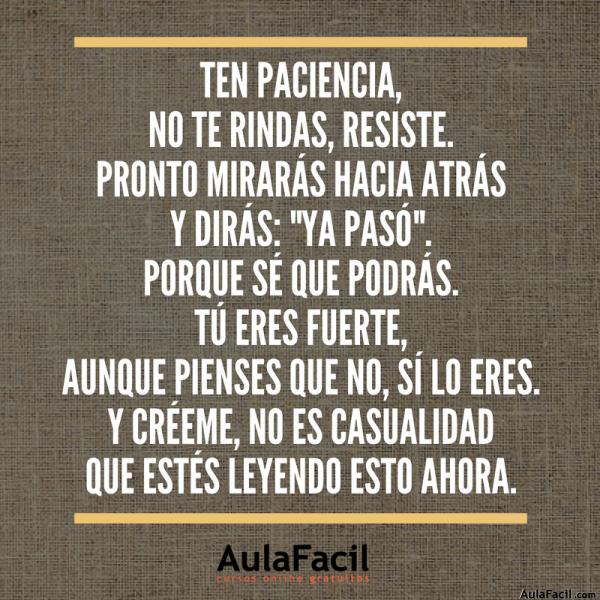 PensamientoPositivo TenPaciencia AulaFacil