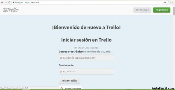 registrarse in Trello png