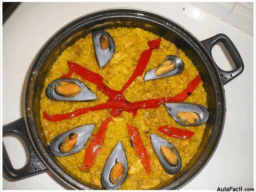 cocina con arroz