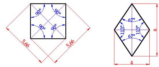⏩Cálculo del Área del Rombo, Romboide - Áreas Geométricas ...
