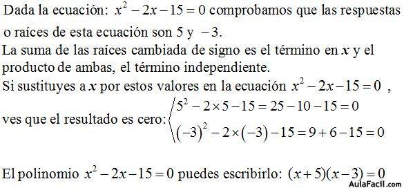 Curso gratis de Ecuaciones de Segundo Grado - Ecuaciones de Tercer ...