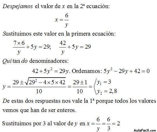 Sistema De Ecuaciones De Segundo Grado Con Dos Incógnitas Ecuaciones De Segundo Grado