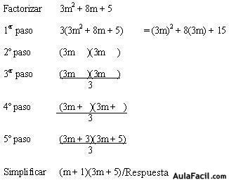 ⏩Trinomio cuadrado de la forma ax2 + bx + c - Álgebra   AulaFacil ...