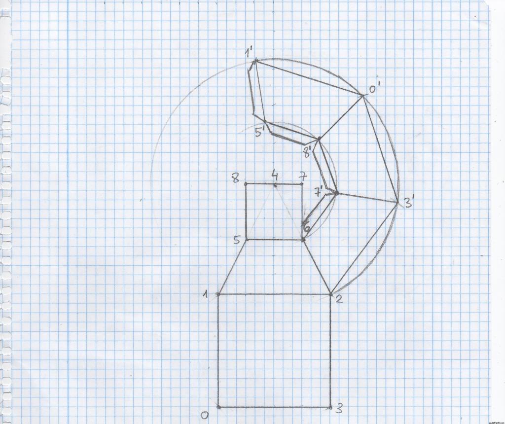 ⏩Trazado de las plantillas de un tronco de pirámide recta de base ...