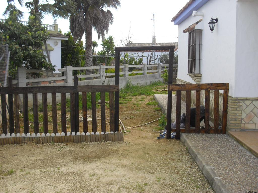 Otras ideas para realizar en el jard n con materiales for Ideas con palets para jardin