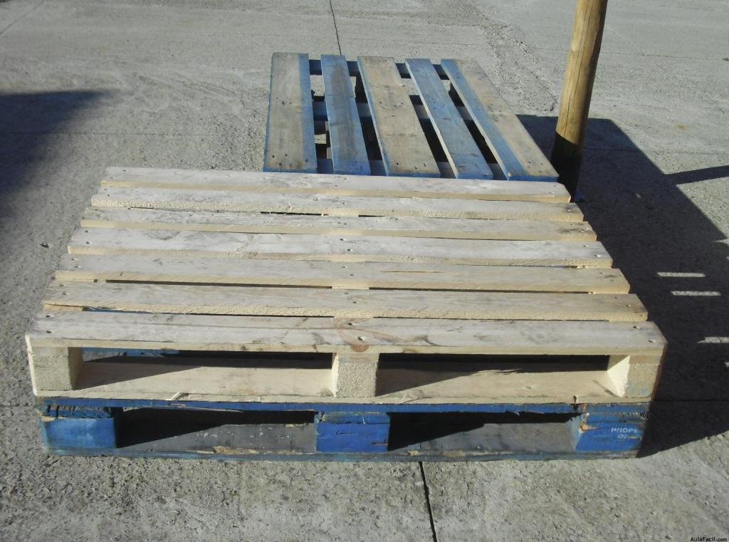 El sof con palets planificar y preparar construcci n - Como hacer un sofa de palets ...