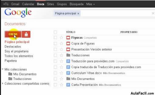 ⏩Crear una hoja de cálculo - Hojas de Cálculo Google Docs ...