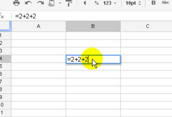 ⏩Operaciones matemáticas básicas en una celda - Hojas de Cálculo ...